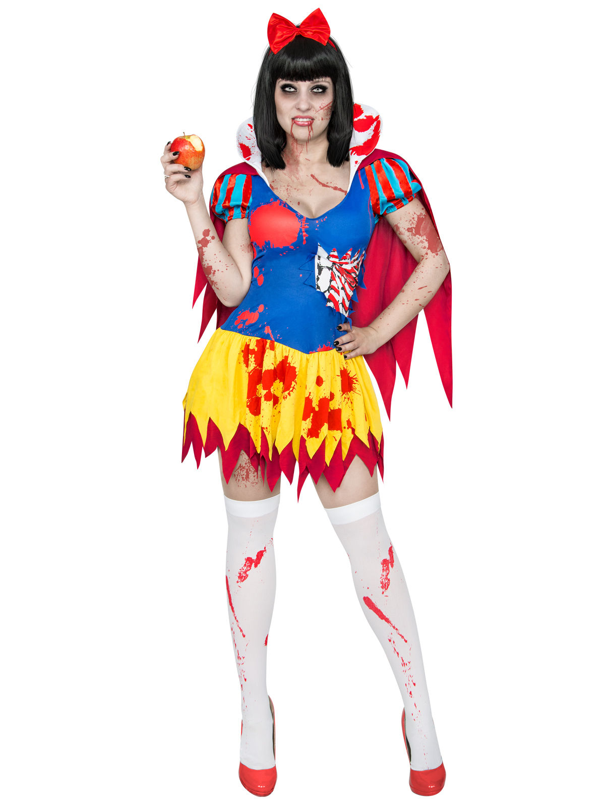 Disfraz de blancanieves zombie para mujer amarillo azul y rojo halloween disfraces adultos y - Blanche neige halloween ...