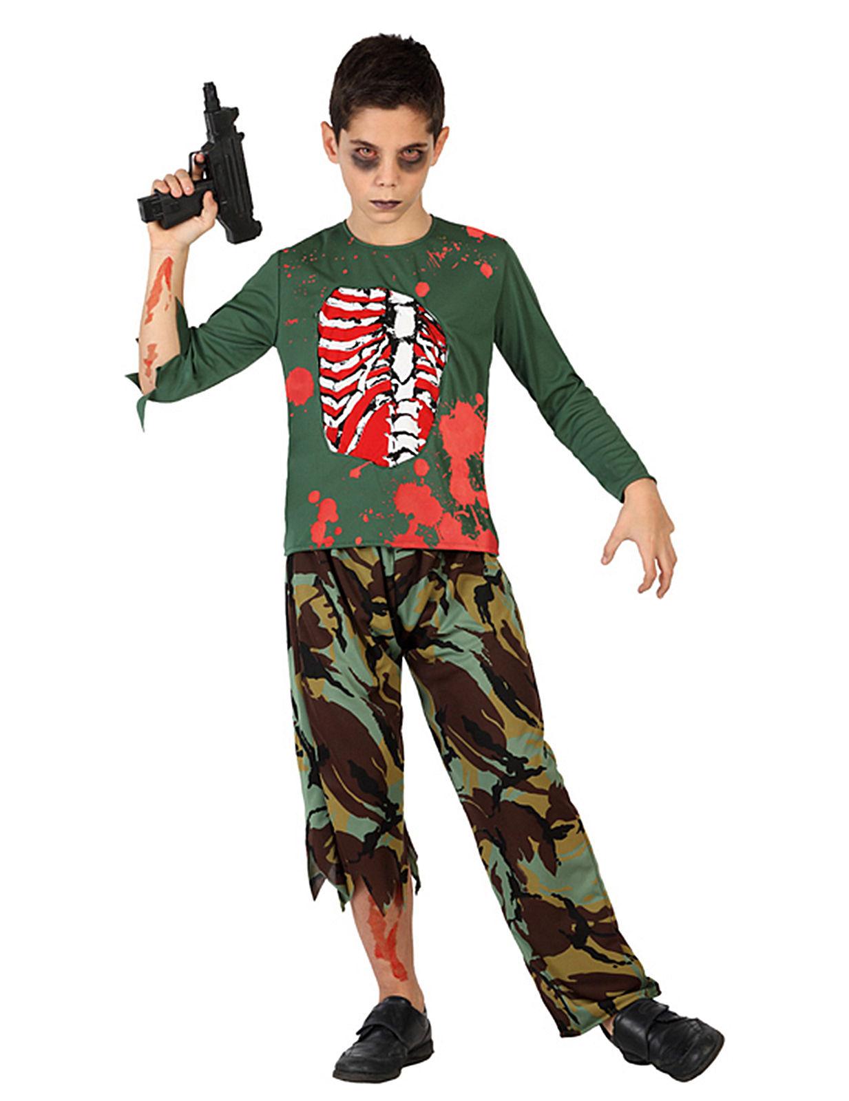 Disfraz de soldado zombie para nio Disfraces niosy disfraces