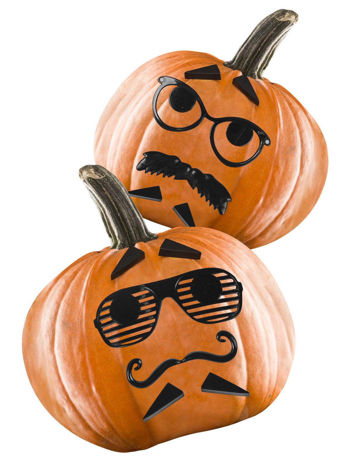 Lote de 12 decoraciones para calabazas de halloween - Decoracion calabazas para halloween ...