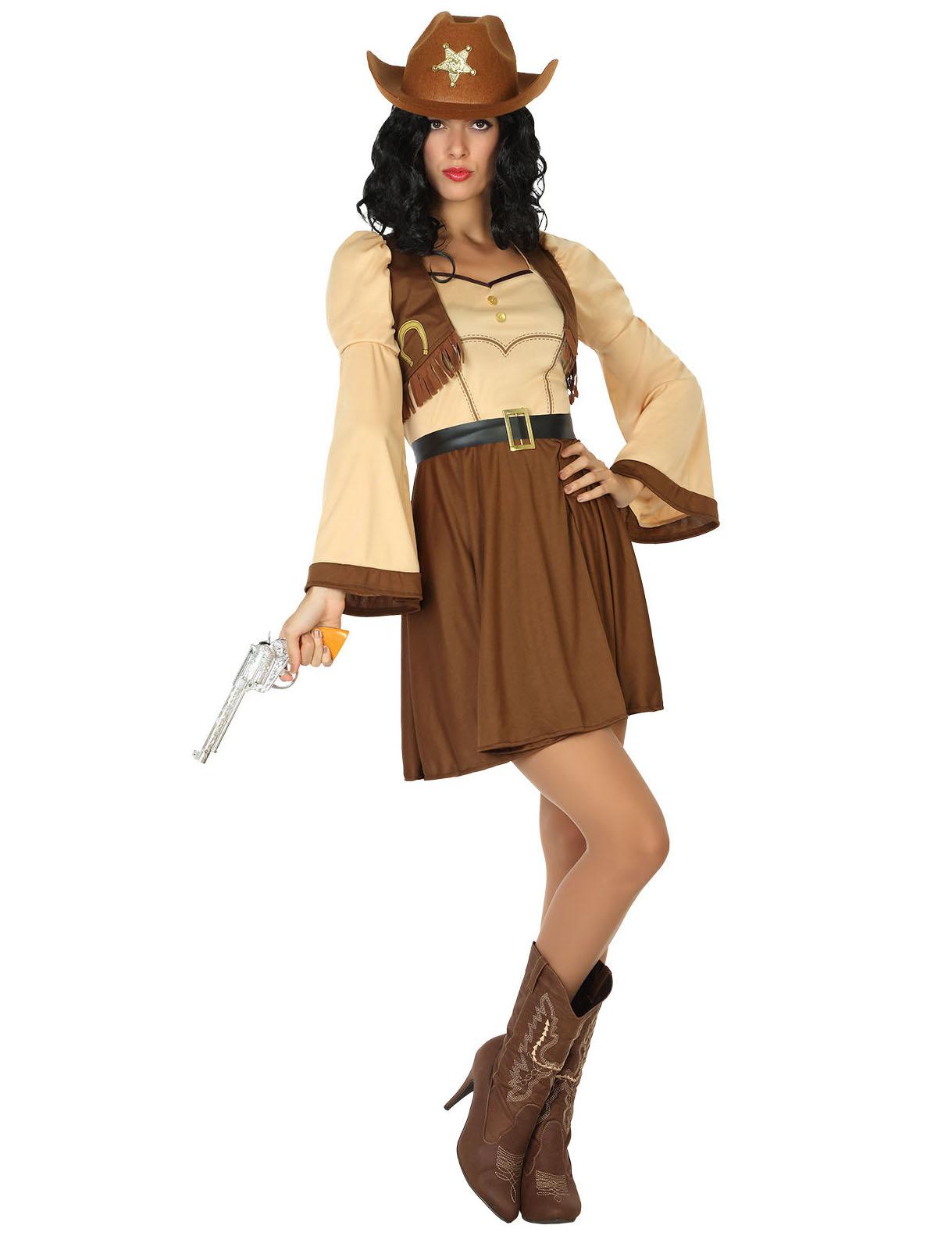 537155c5c Disfraz cowgirl del lejano Oeste mujer  Disfraces adultos