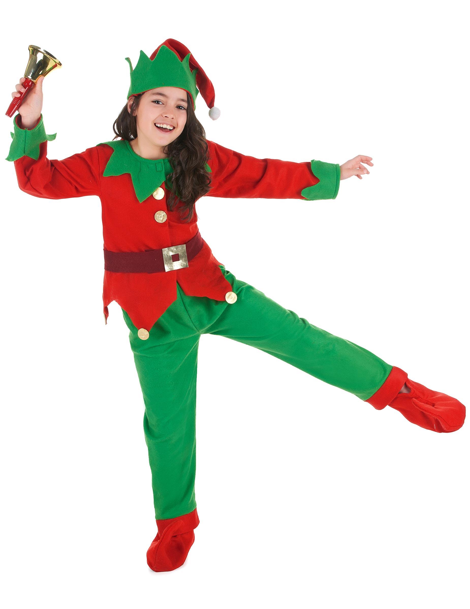 Disfraz completo elfo de navidad ni o disfraces ni os y - Traje de duende para nino ...