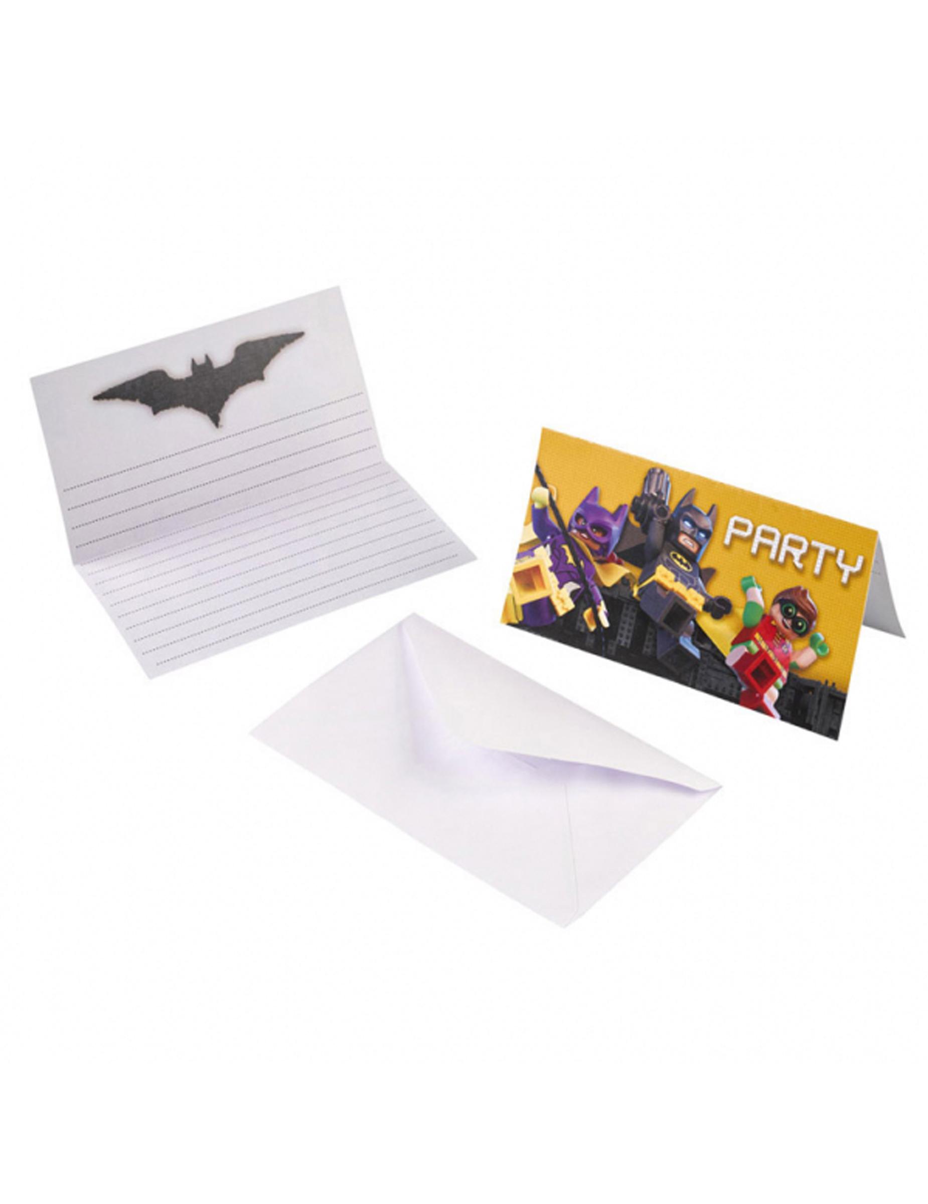 8 Invitaciones Y Sobres Lego Batman Decoracióny Disfraces