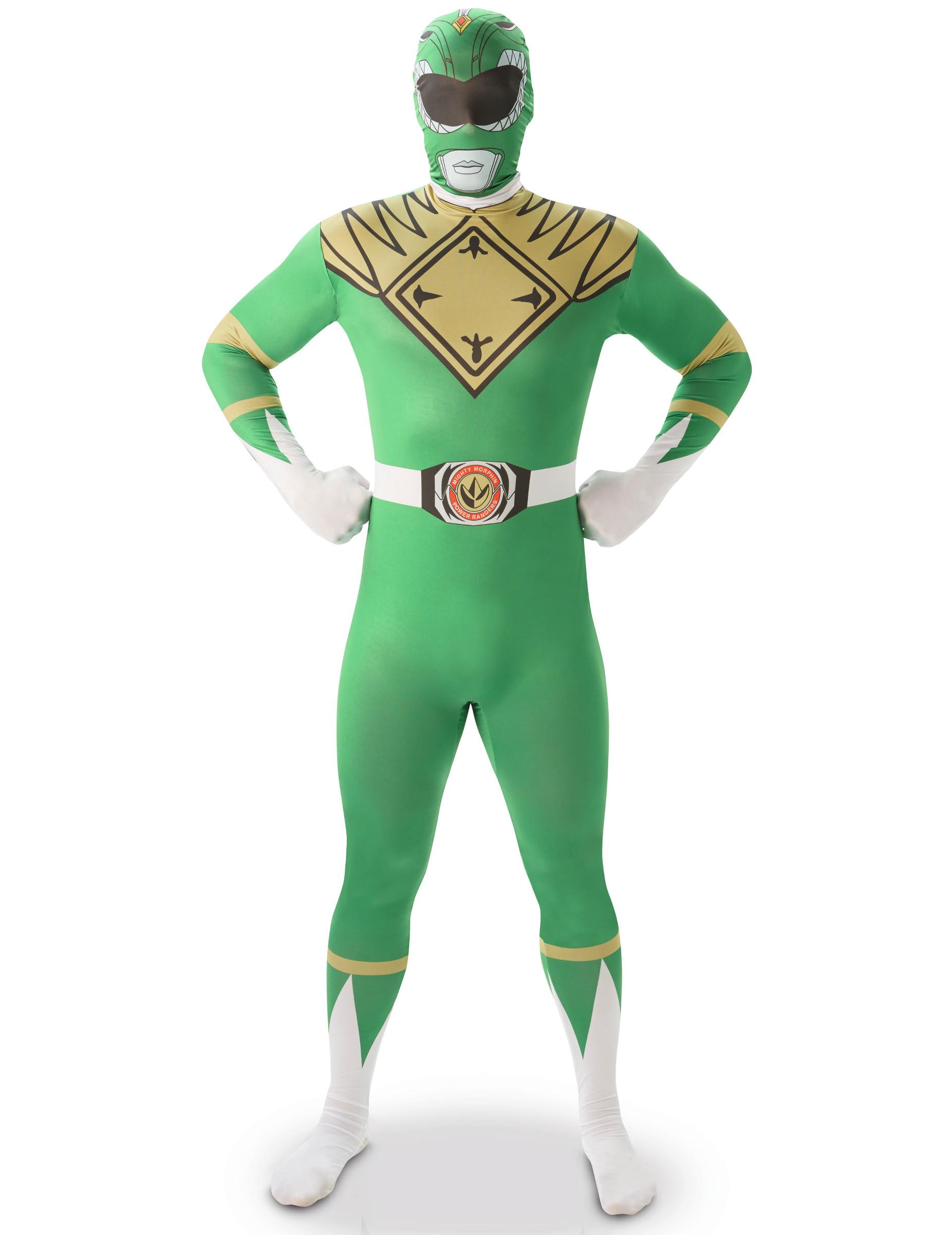 Disfraz Segunda Piel Power Rangers Verde Hombre