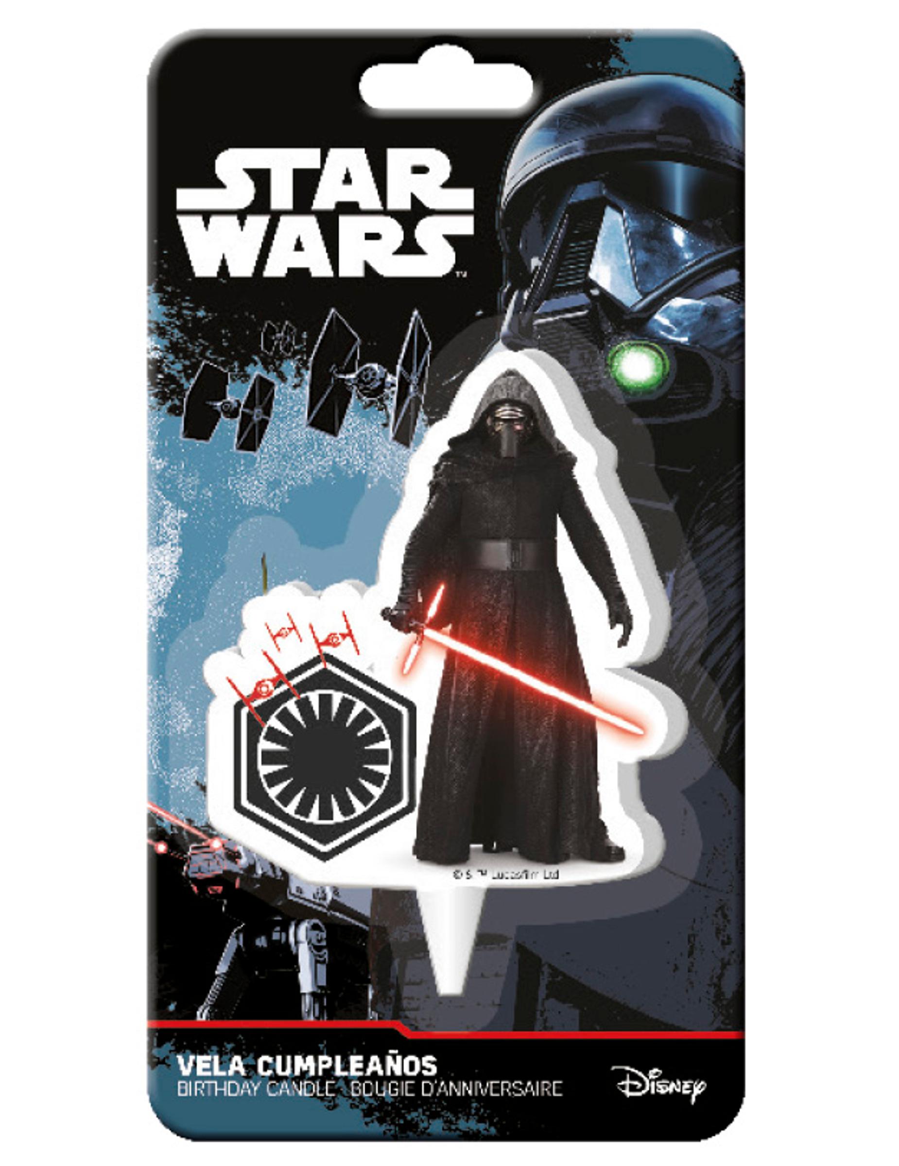 Vela De Cumpleanos Star Wars Vii Decoracion Y Disfraces Originales