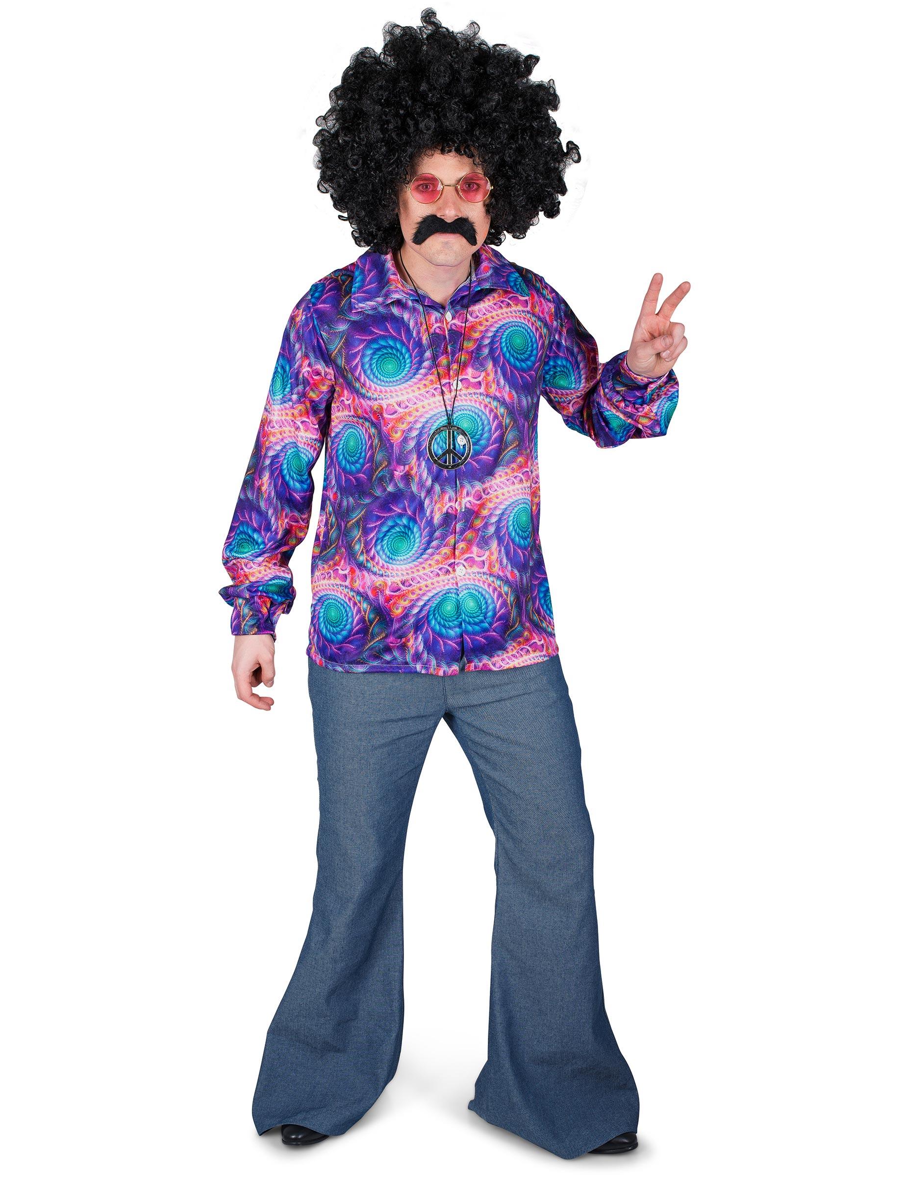 Disco Psicodélica Camisa Camisa Hombre Camisa Psicodélica Disco Hombre Camisa Hombre Psicodélica Disco USVpzM