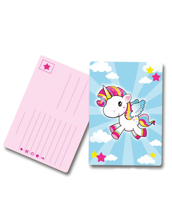 8 tarjetas de invitación Unicornio: Decoración,y disfraces ...