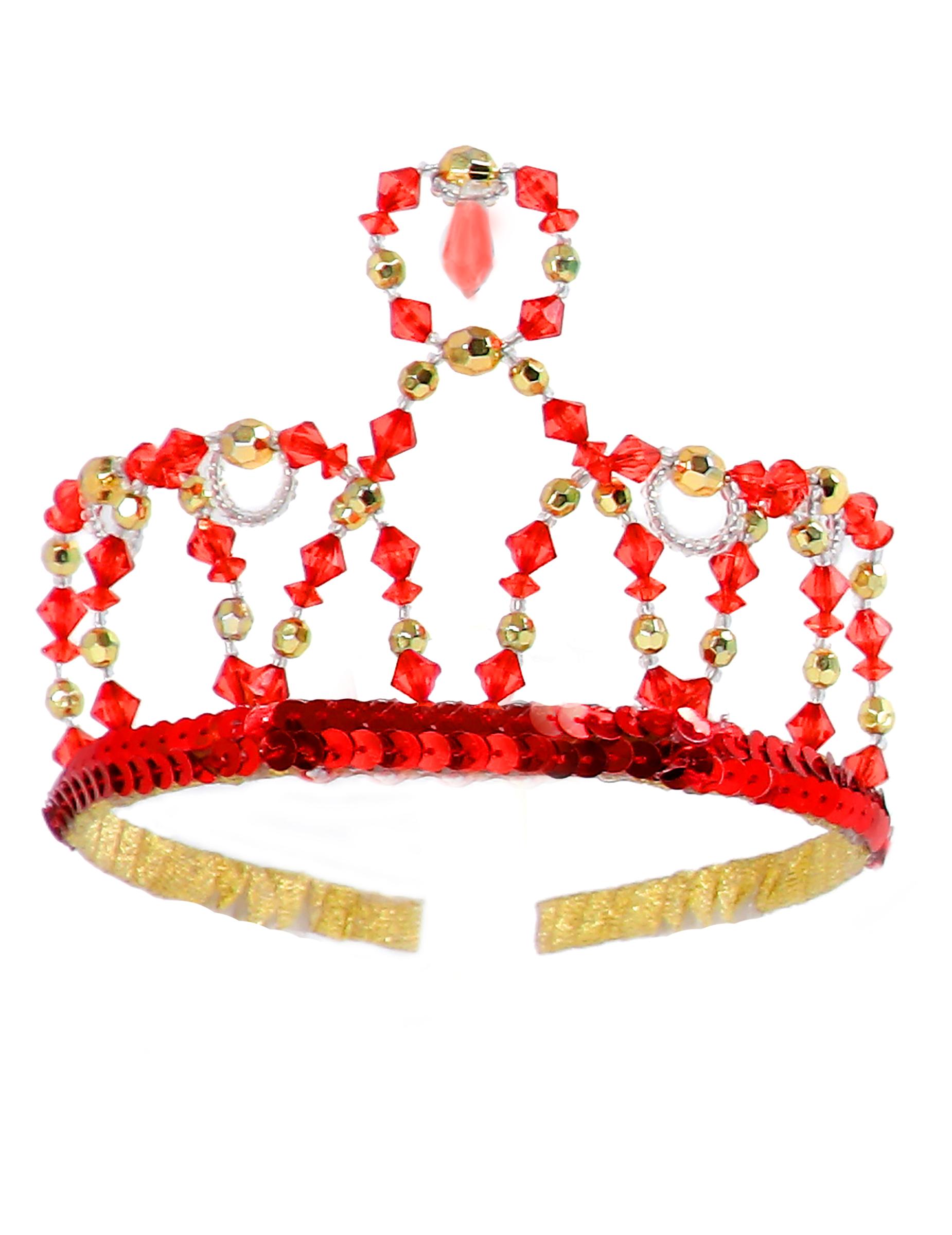 Corona Princesa Roja Niña Accesoriosy Disfraces Originales Baratos