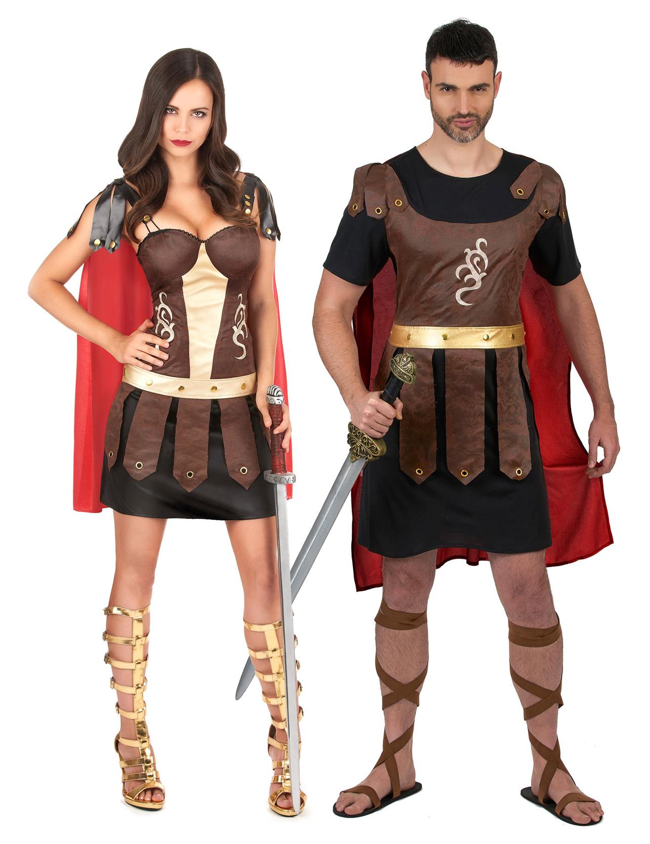 bed94c0db Disfraz de pareja de gladiadores romanos adultos