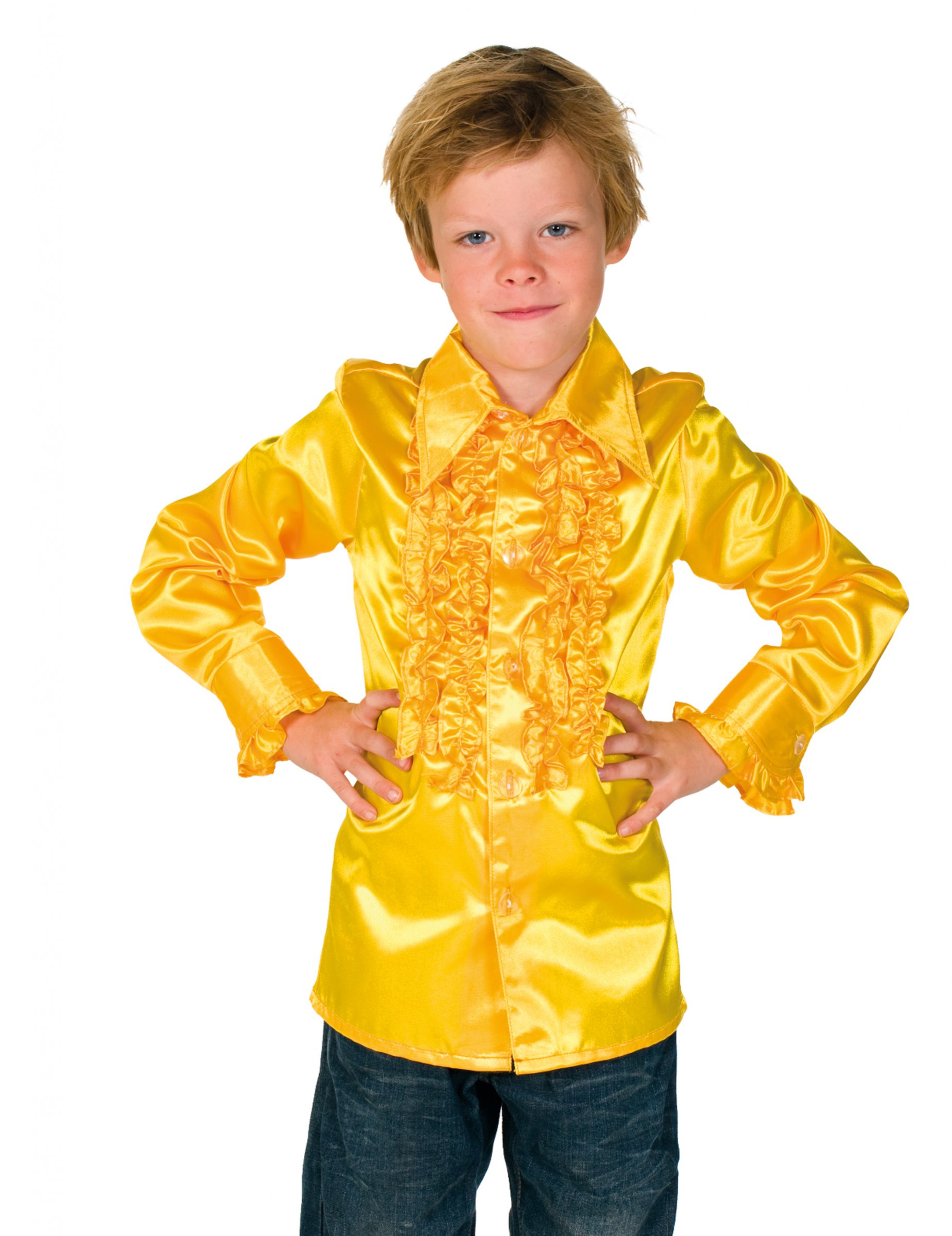 20161b919 Camisa amarilla con volantes niño  Disfraces niños