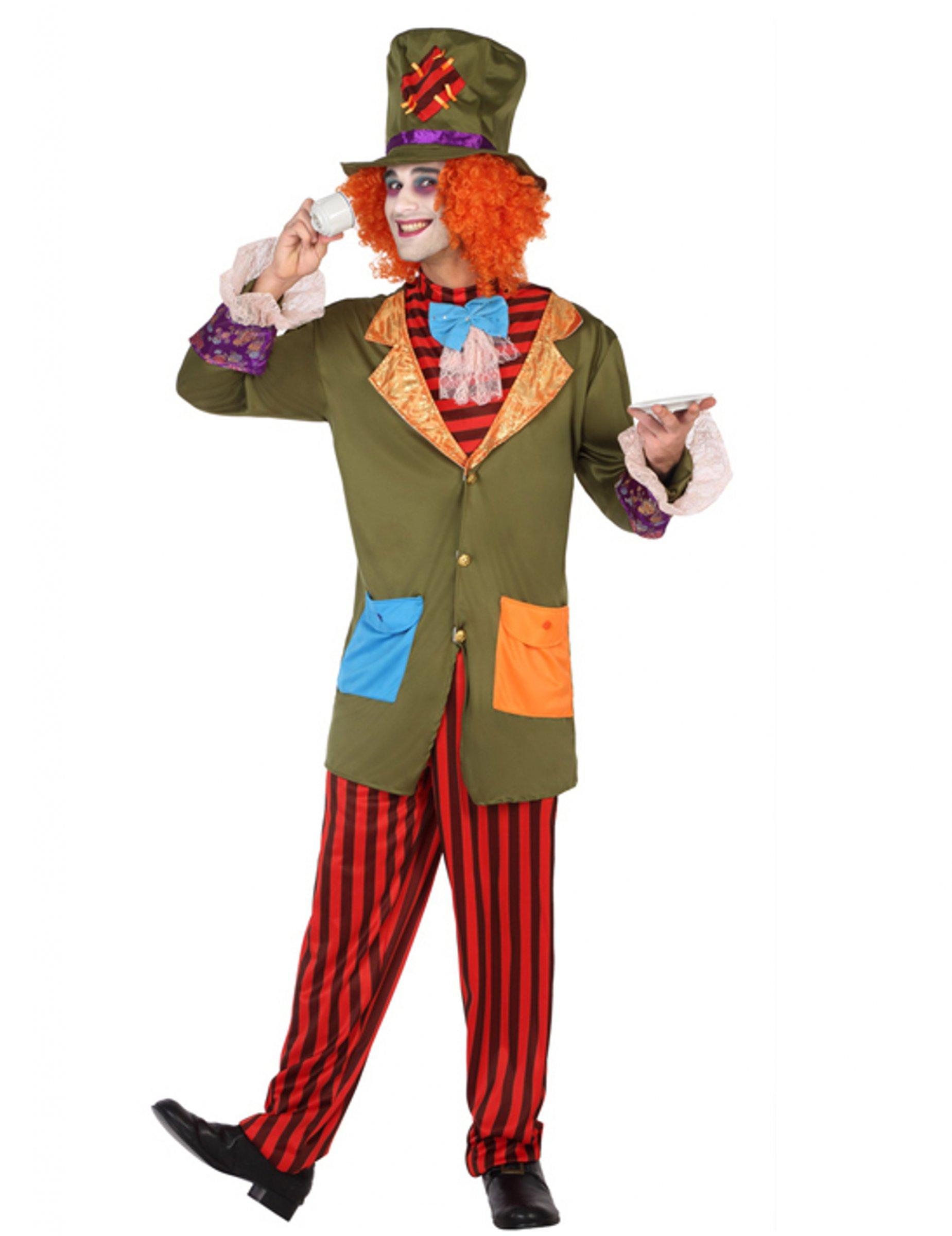 De y Adultos Disfraz A Hombre Sombrerero Disfraces Rayas 7axAqpdw