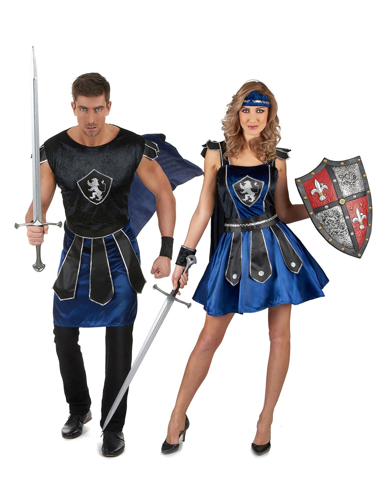 Disfraz de pareja de caballeros azules adultos disfraces for Disfraces parejas adultos