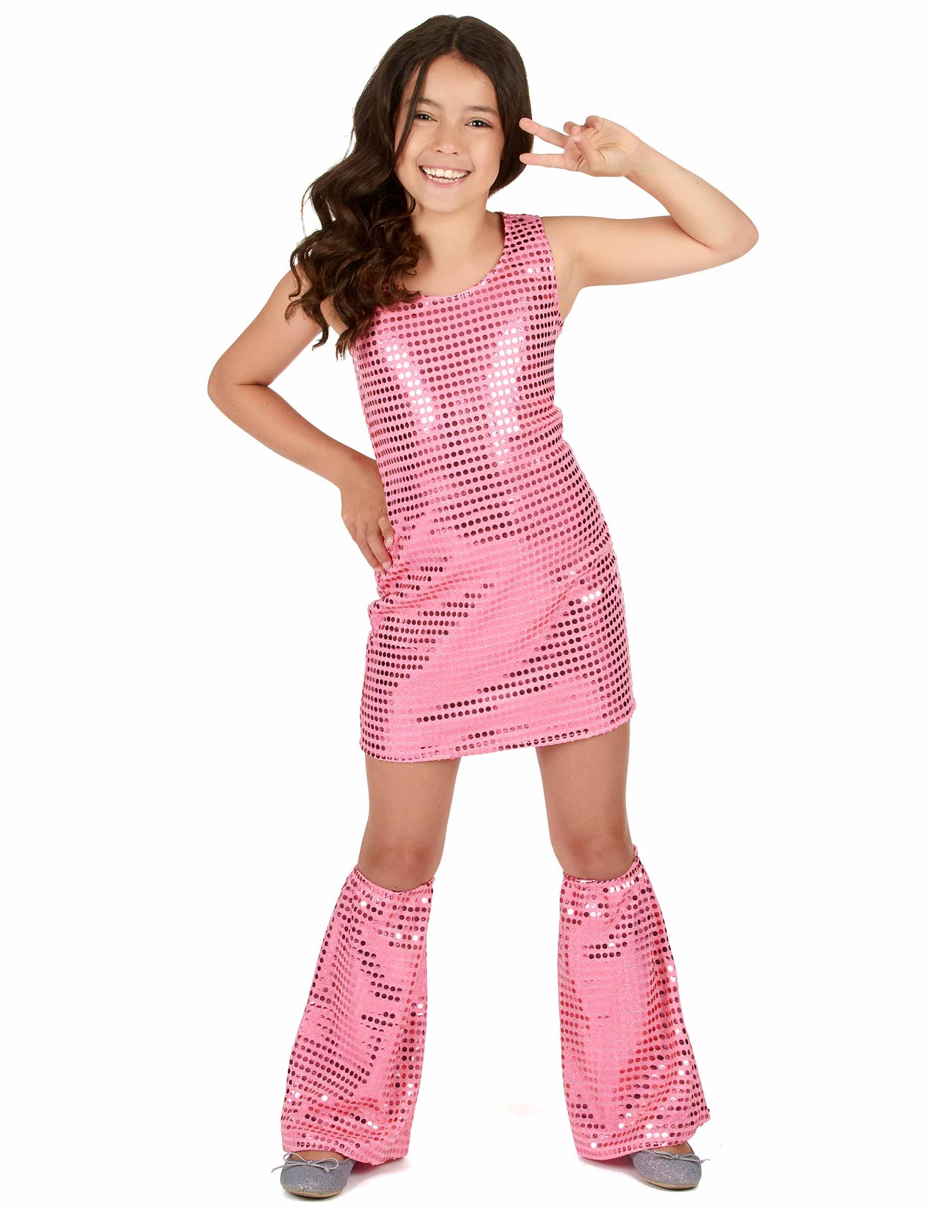 Disfraz disco rosa con lentejuelas niña: Disfraces niños,y disfraces ...
