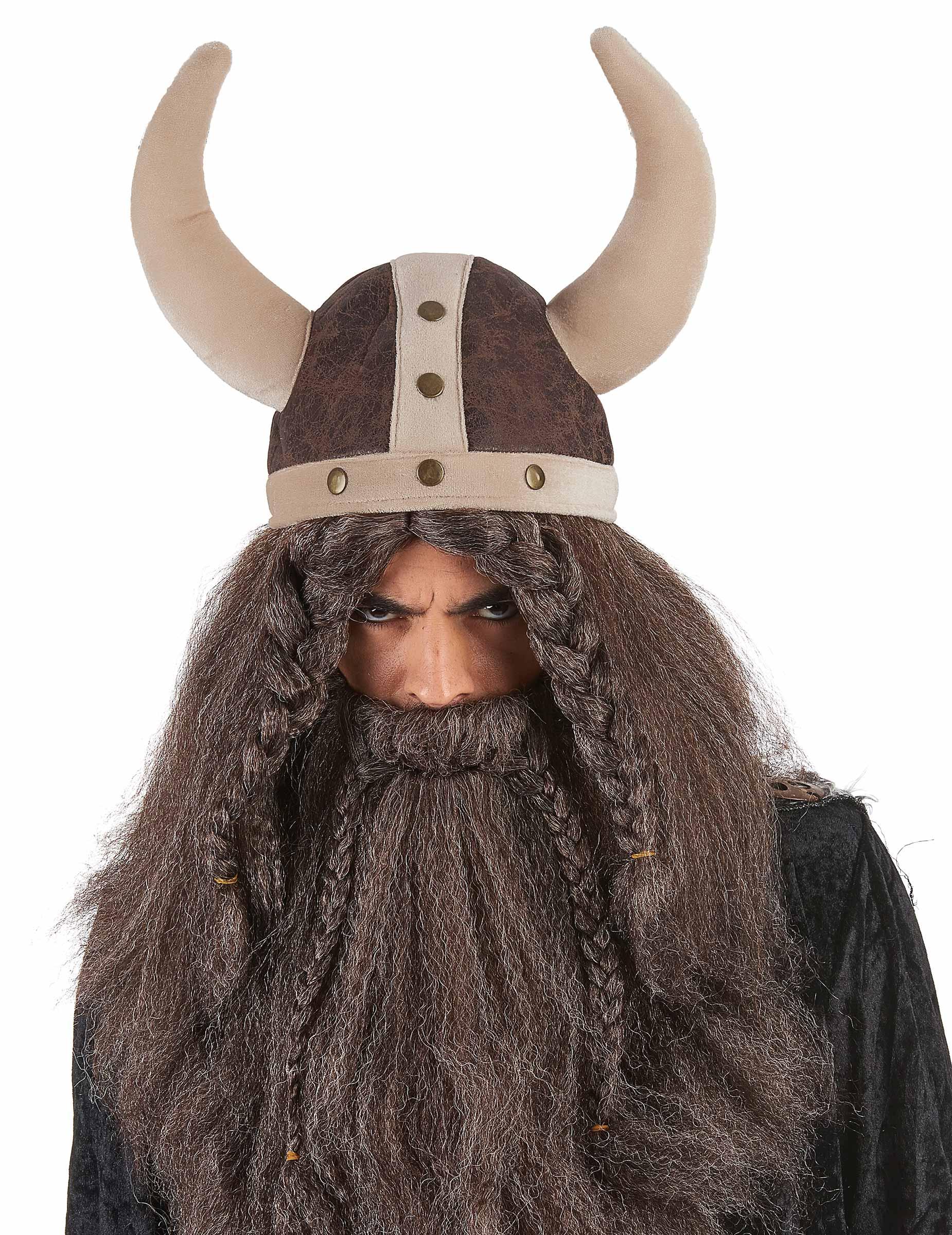 9b6bd921e1fdd casco vikingo marrón flexible adulto  Sombreros