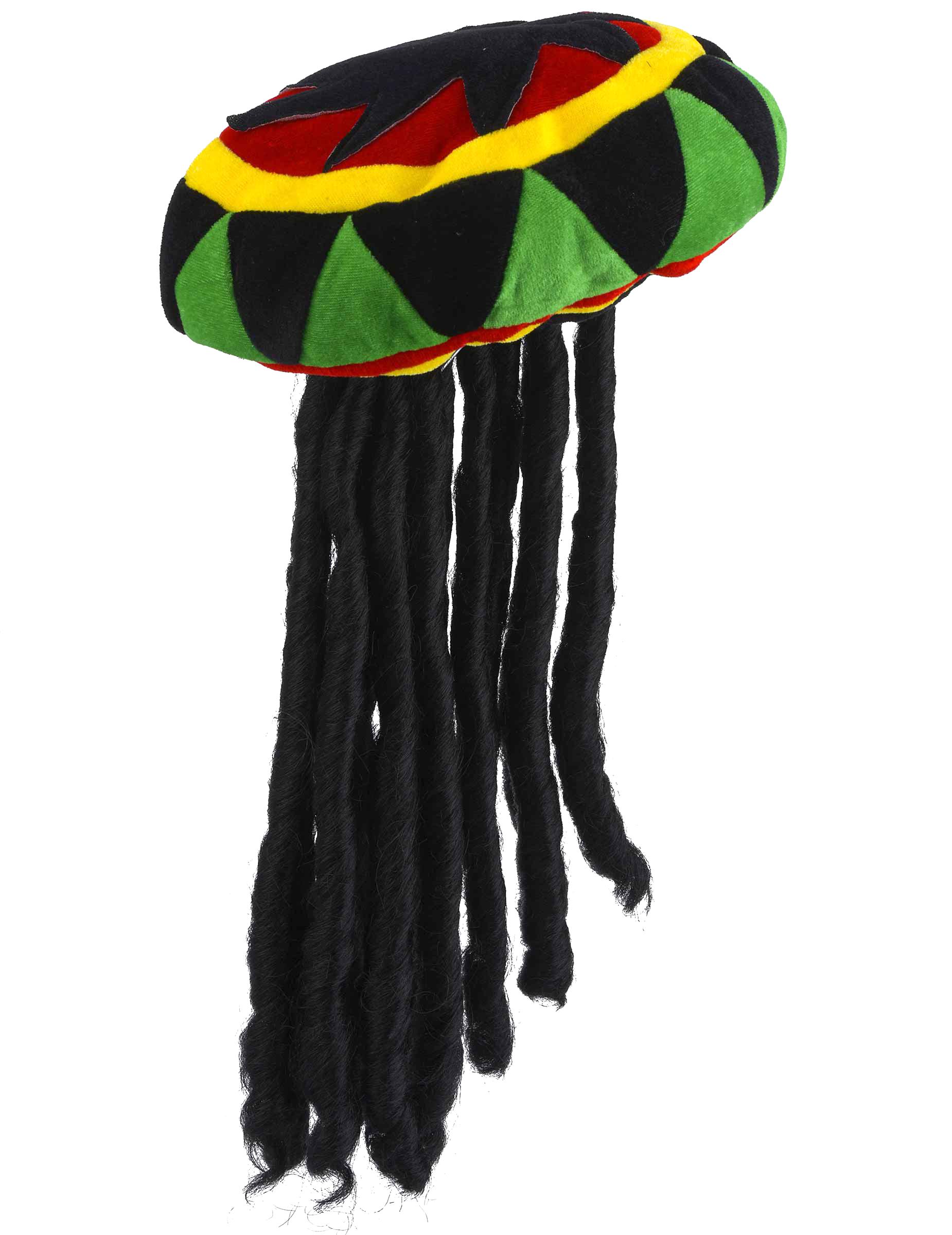 Gorro rasta terciopelo con rastas adulto  Sombreros 9ad8edef2a4