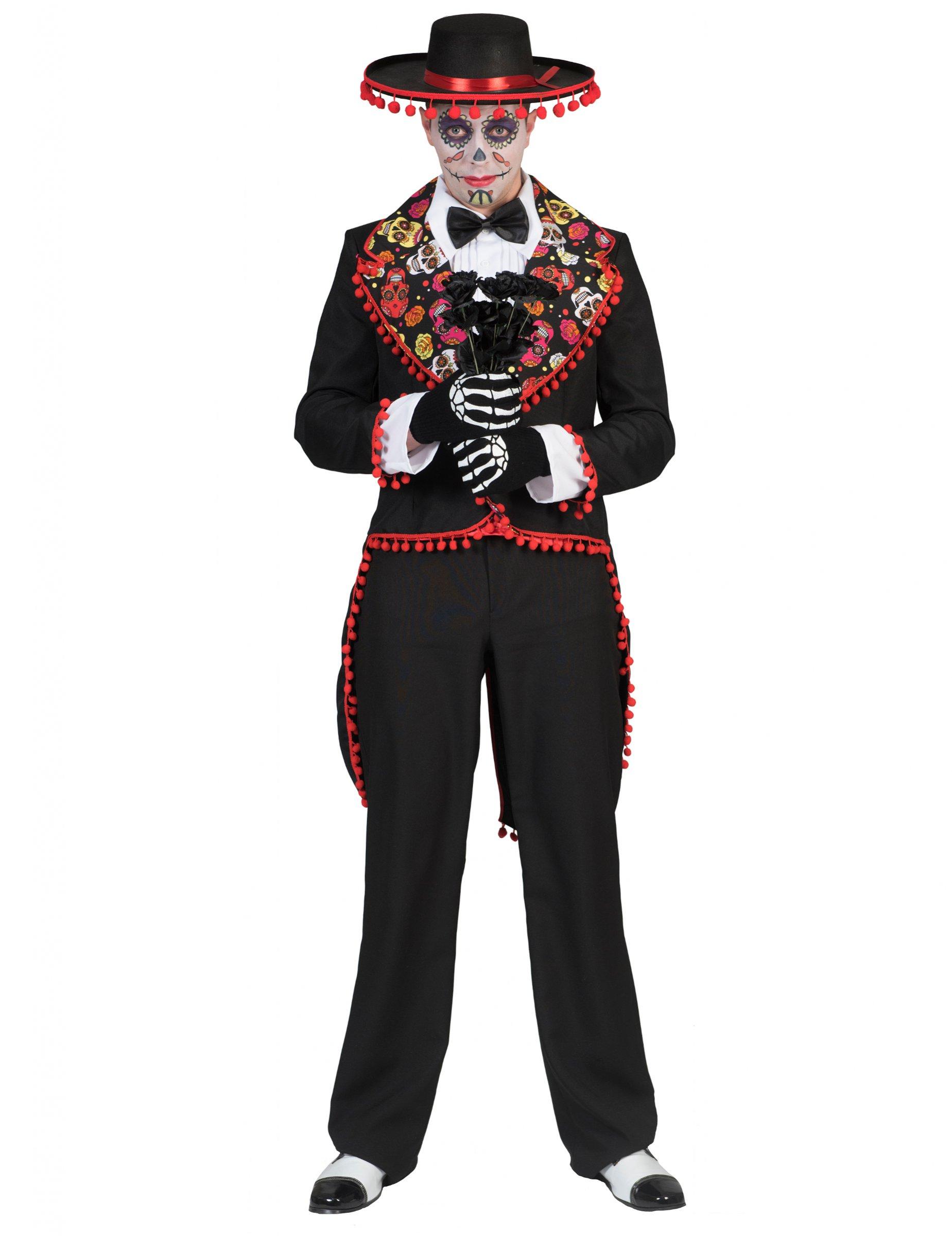 Disfraz mexicano romántico hombre Día de los muertos  Disfraces ... 4d1a11138df