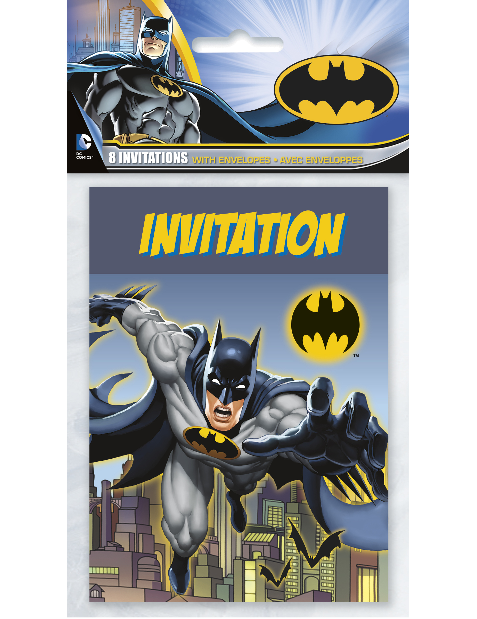 8 Tarjetas De Invitación Batman