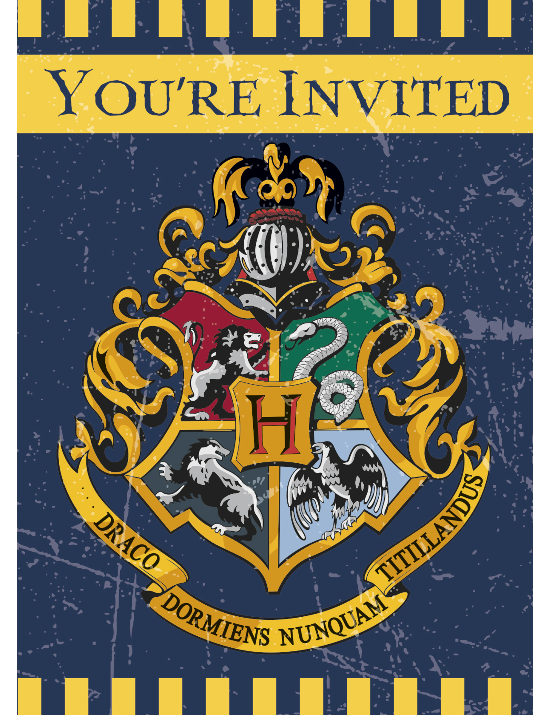 8 Tarjetas De Invitación Harry Potter Decoracióny Disfraces