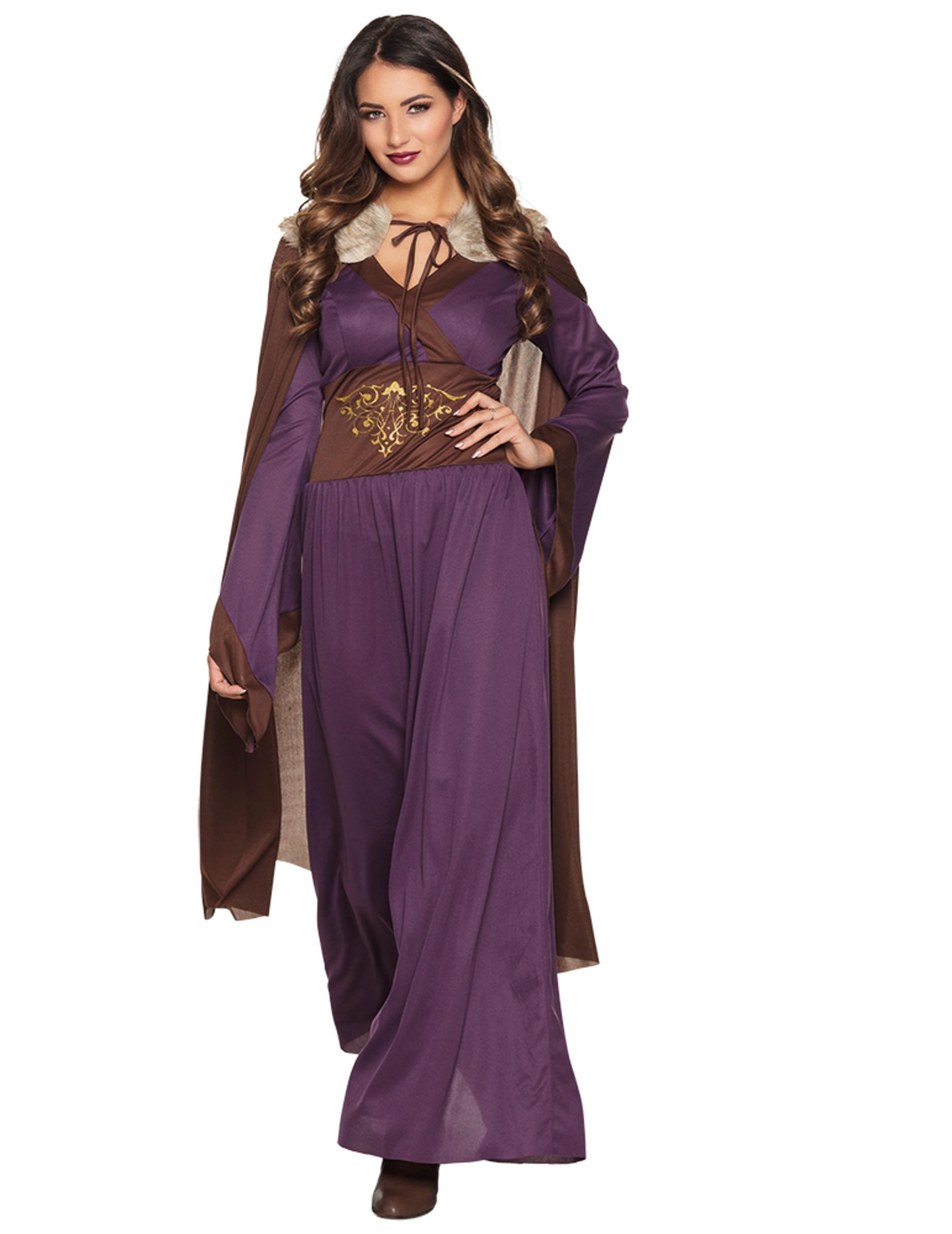 Disfraz Dama del norte violeta mujer: Disfraces adultos,y disfraces ...