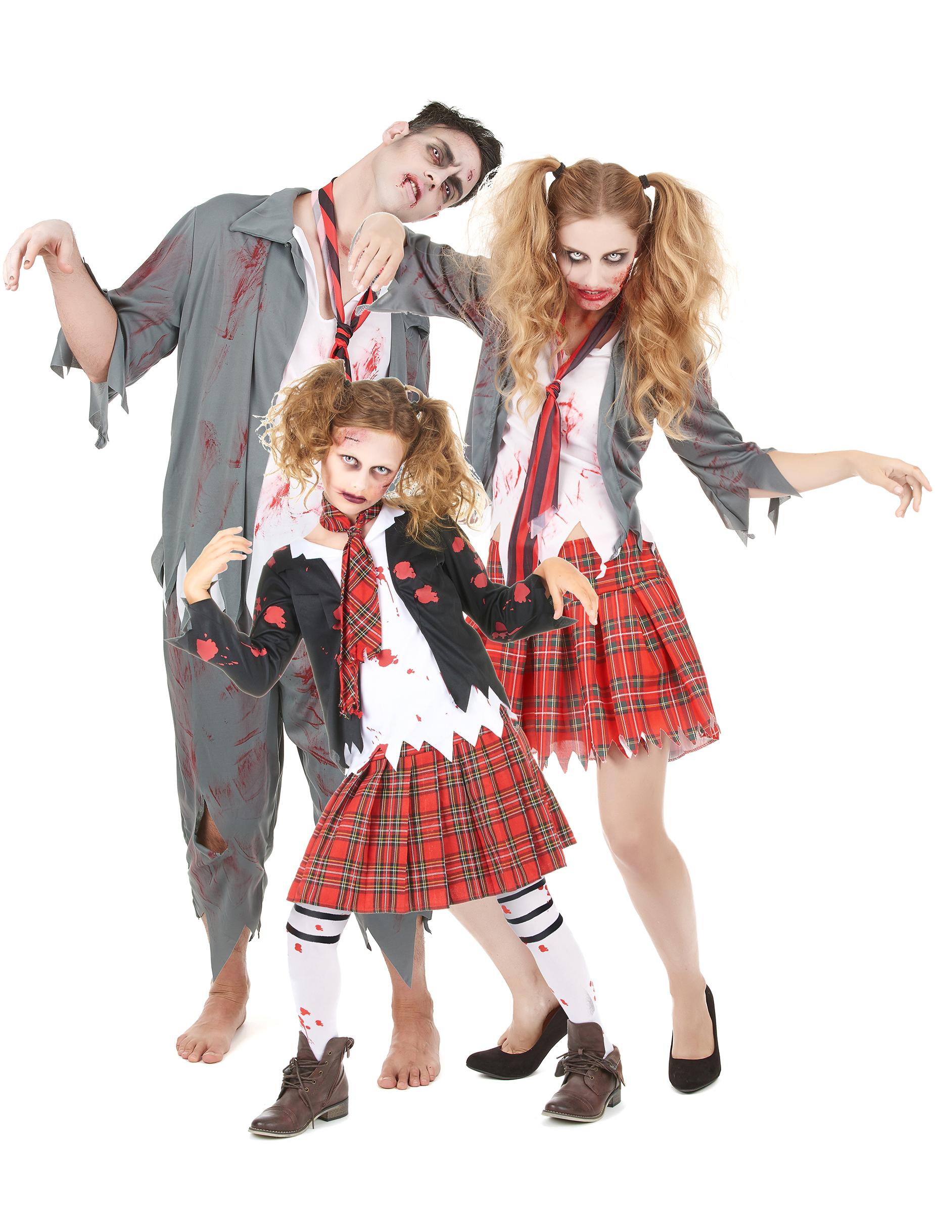 Disfraz de familia zombie Halloween Disfraces parejasy disfraces