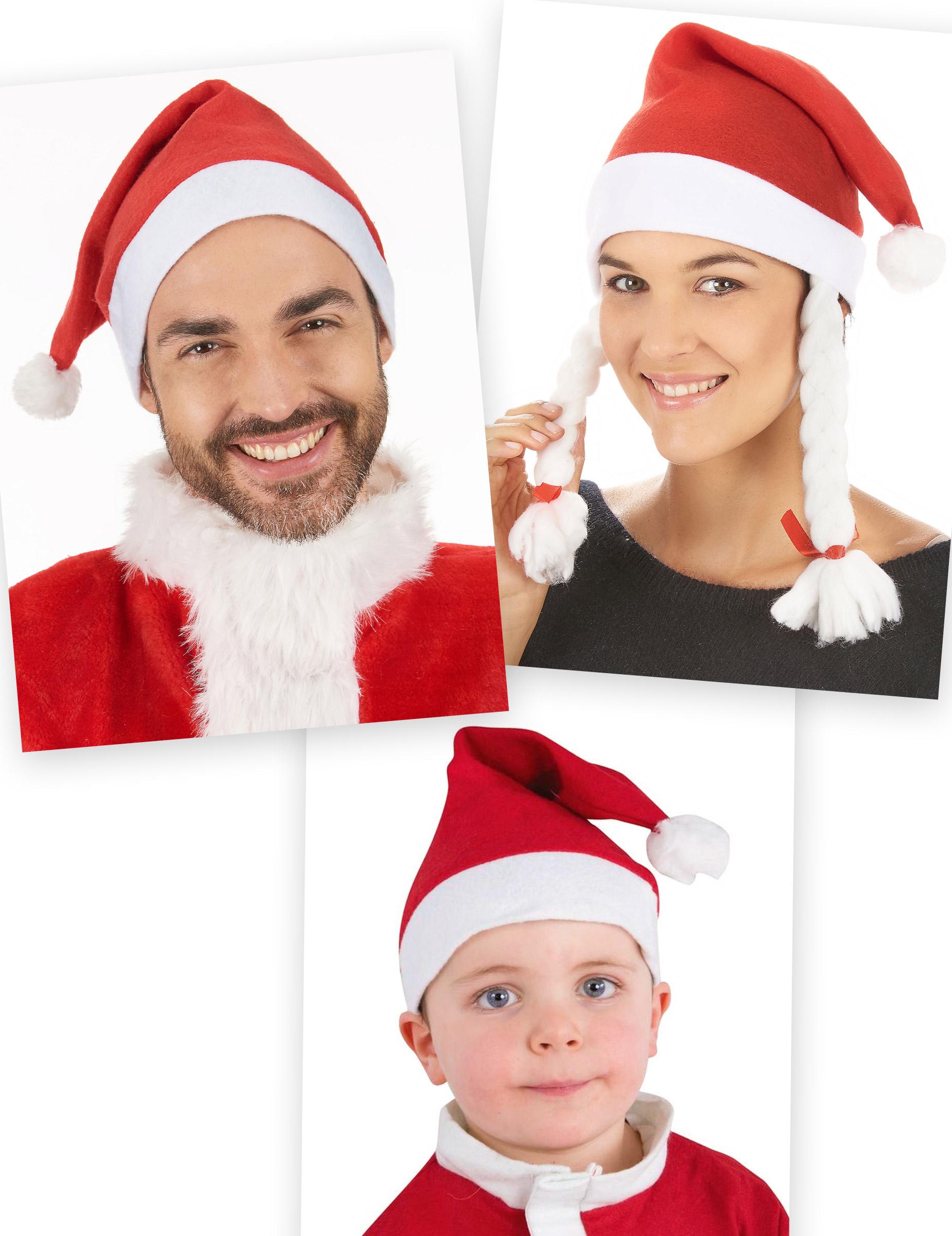Kit familia gorros Papá Noel  Sombreros 4983c608df2