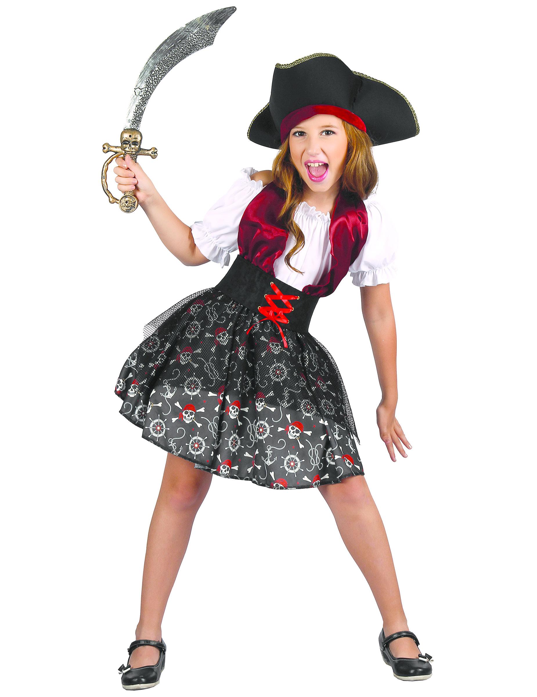 adf44b3a9 Disfraz pirata para niña