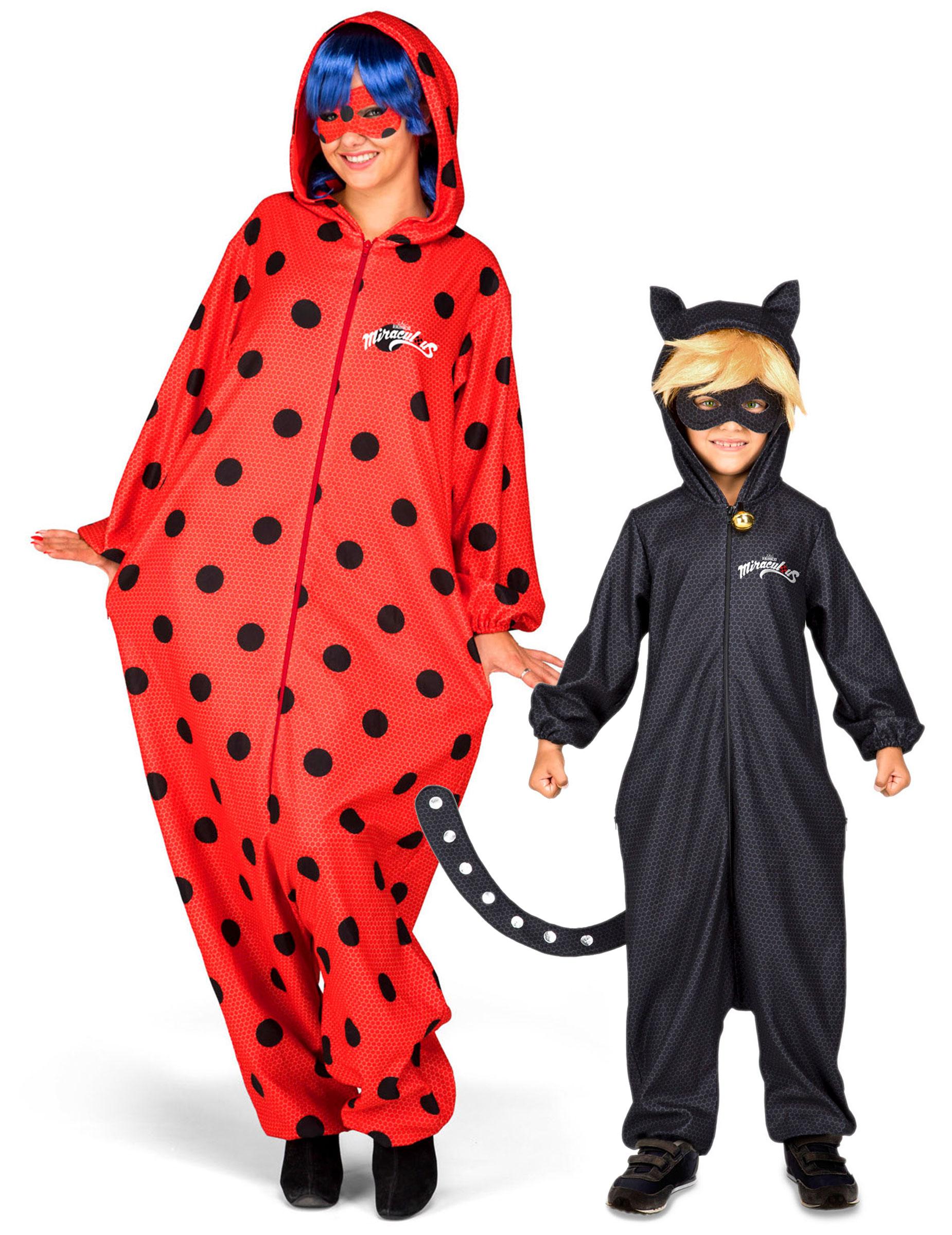 disfraz pareja ladybug y chat noir miraculous madre e hijo. Black Bedroom Furniture Sets. Home Design Ideas