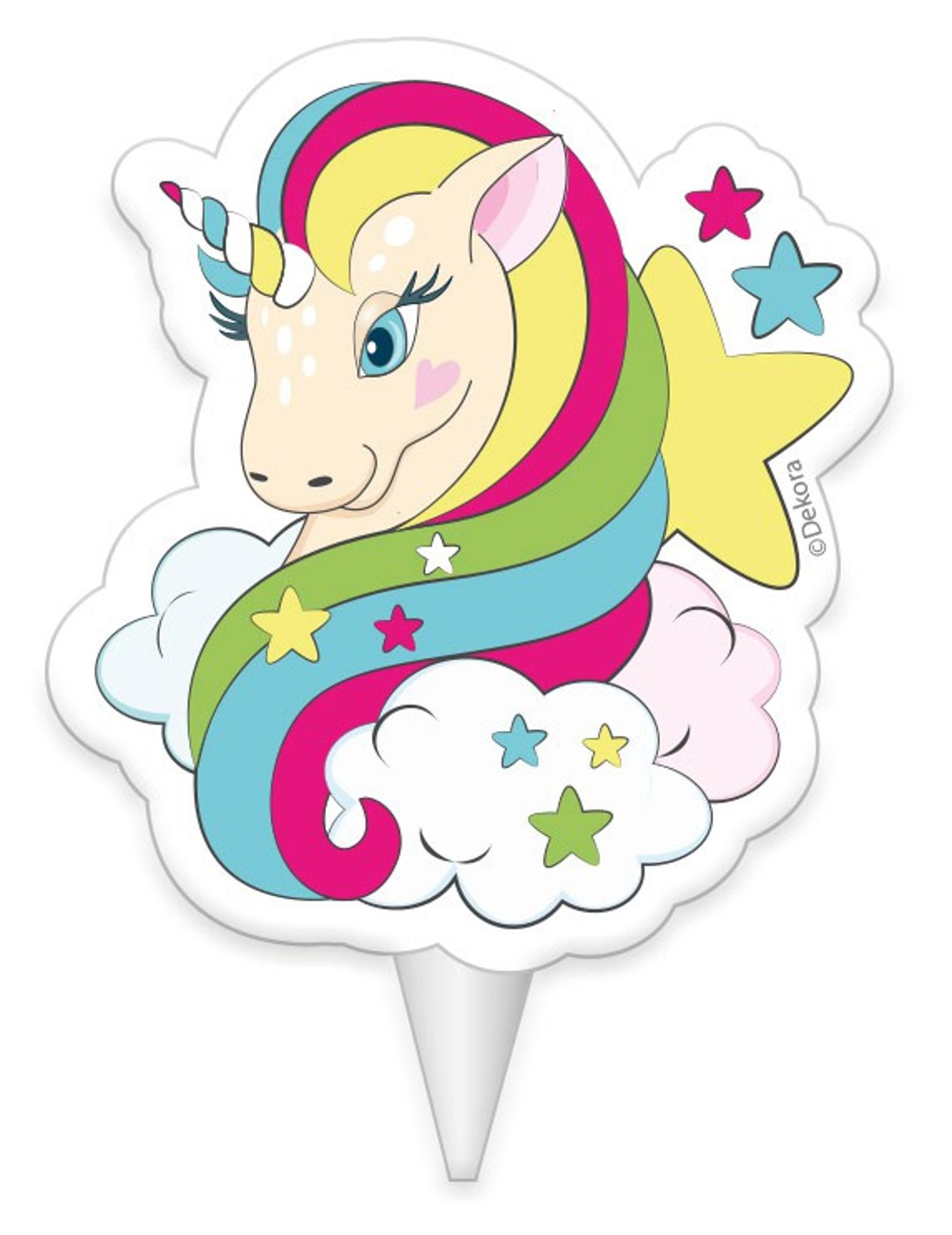 Vela de cumplea os unicornio 8 cm decoraci n y disfraces for Decoracion para pared de unicornio