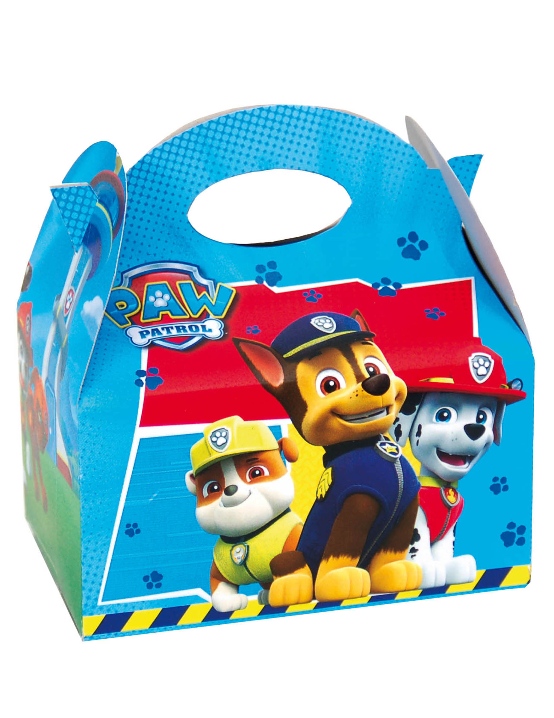 caja de regalo paw patrol 16 x 10 5 x 16 cm decoraci n y disfraces originales baratos vegaoo. Black Bedroom Furniture Sets. Home Design Ideas