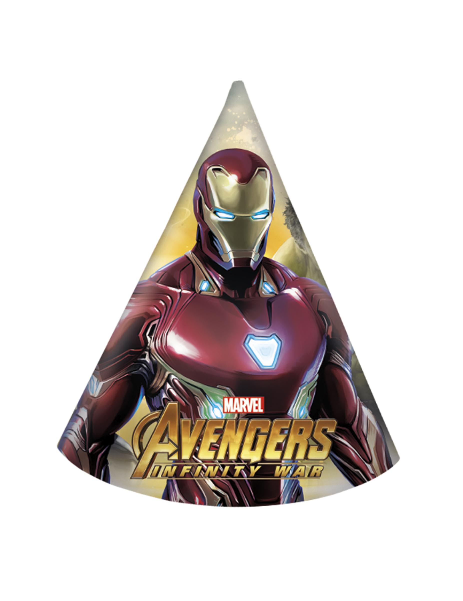 6 Gorros De Fiesta De Vengadores Infinity War Decoracion Y