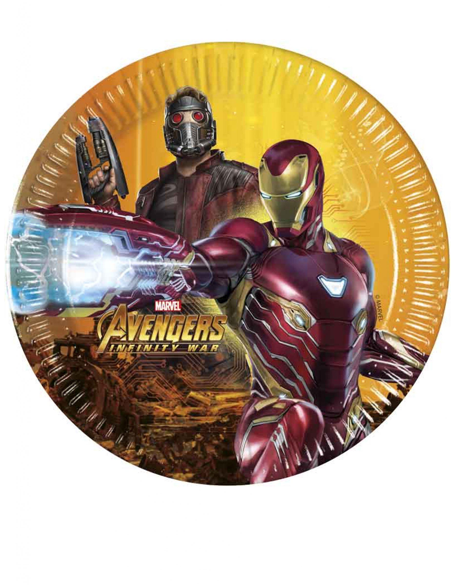 8 Platos Avengers Infinity War 20 Cm Decoracion Y Disfraces