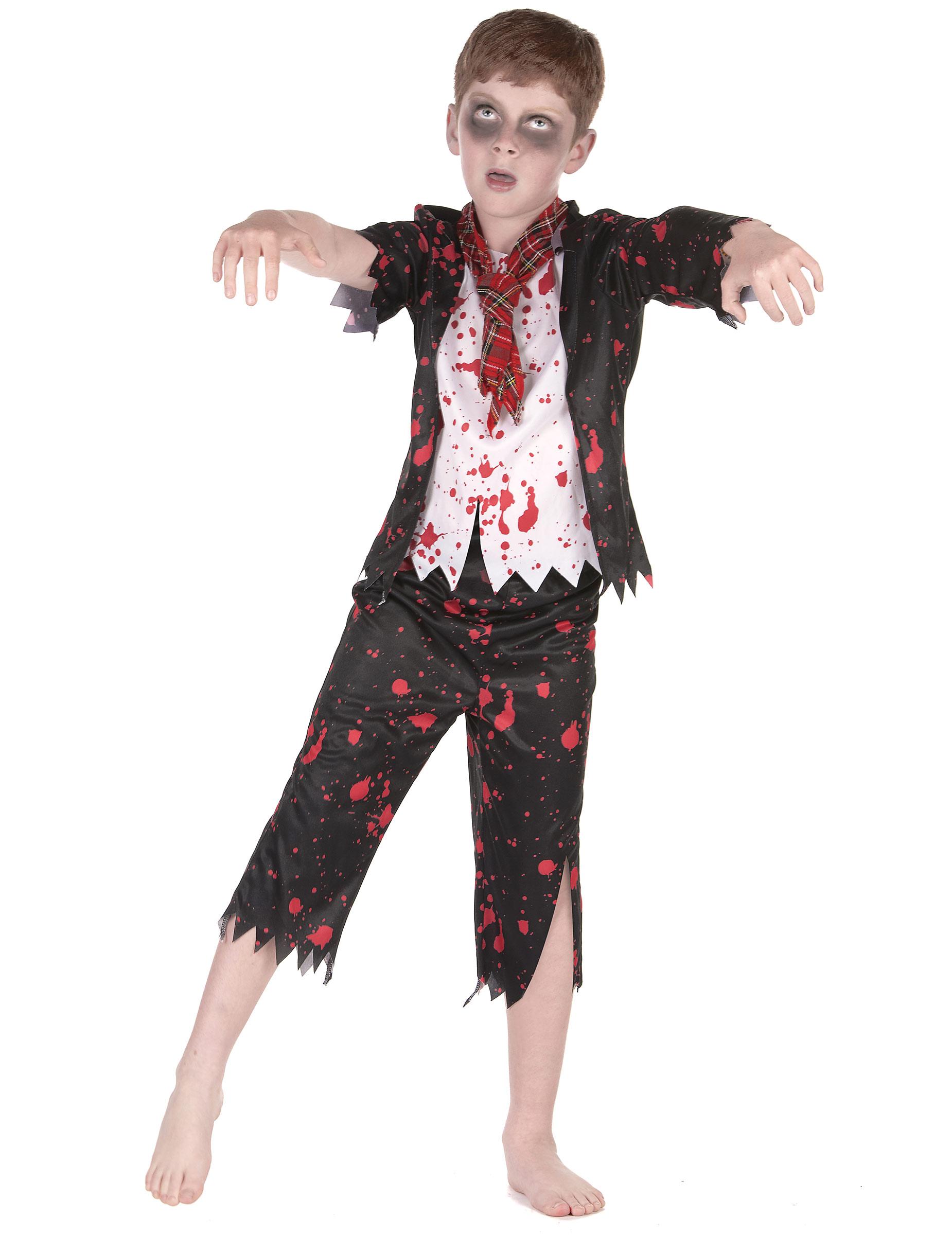 foto de Disfraz colegial zombie niño: Disfraces niños y disfraces