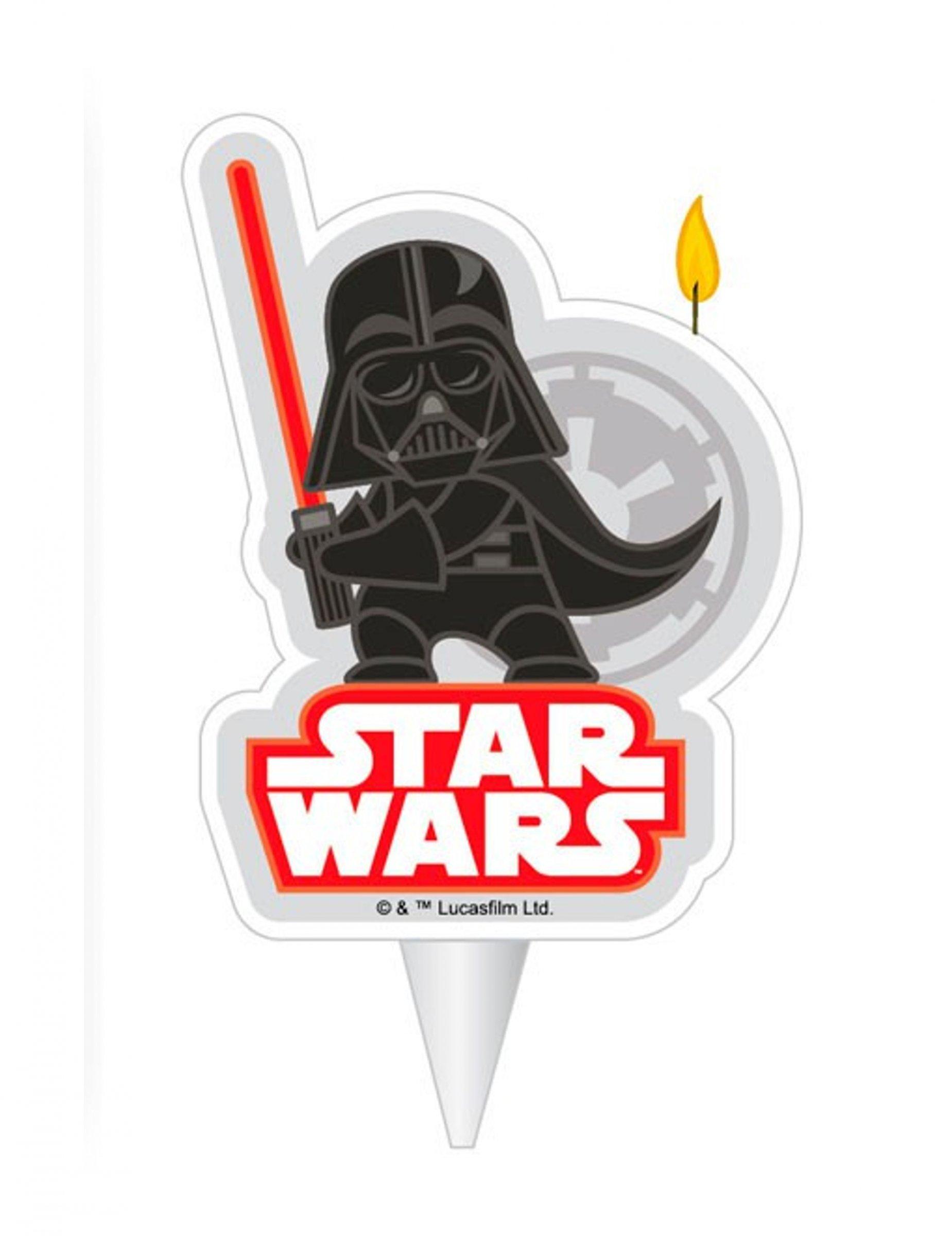 Vela De Cumpleanos Dark Vader Star Wars 2d 7 5 Cm Decoracion Y