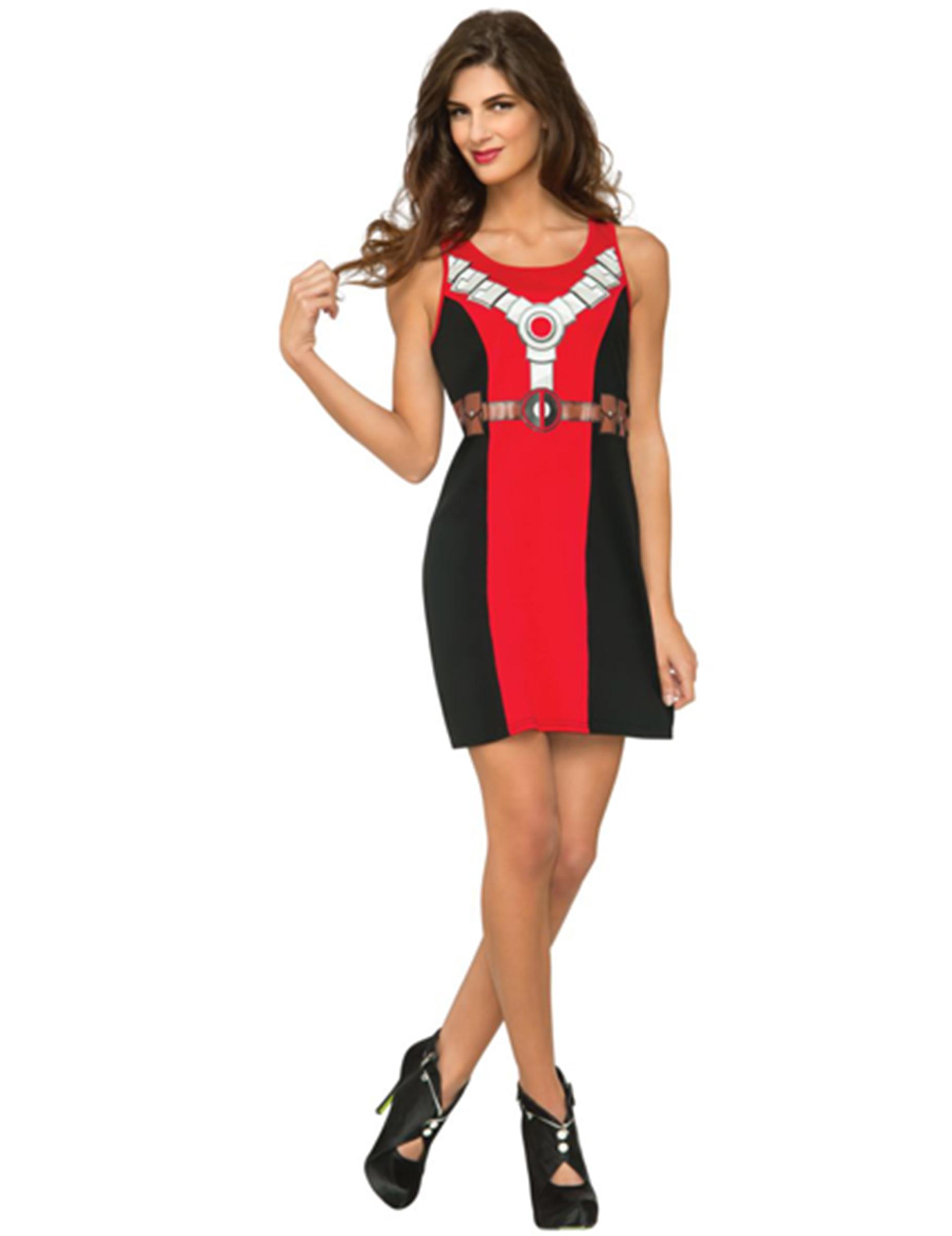 Vestido Sin Mangas Deadpool Mujer