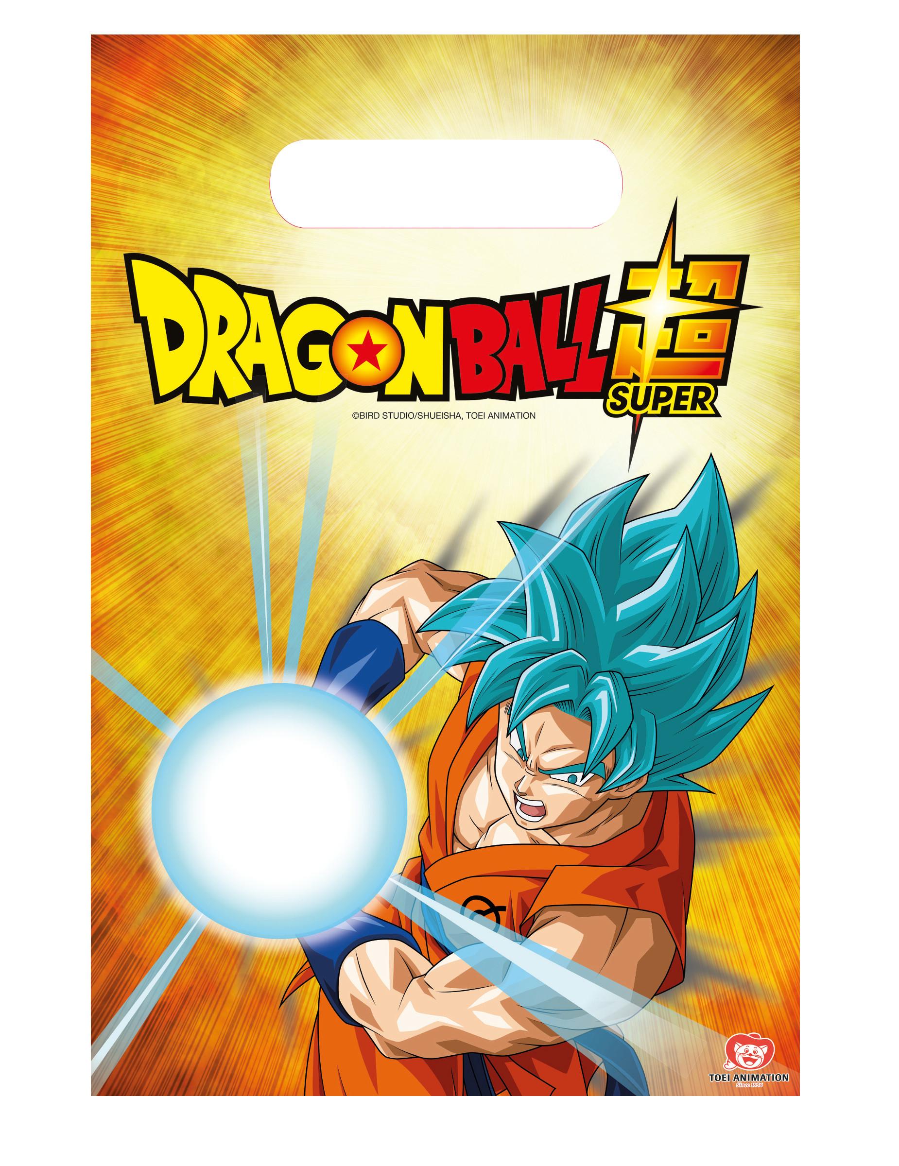 6 Bolsas De Fiesta Dragon Ball Super 23 X 16 Cm Decoración Y Disfraces Originales Baratos Vegaoo