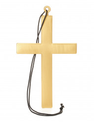 Cruz dorada de monje
