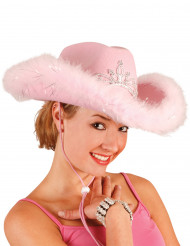 Sombrero rosa de vaquera para mujer