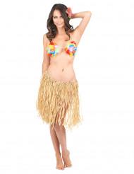 Falda hawaiana para mujer rafia