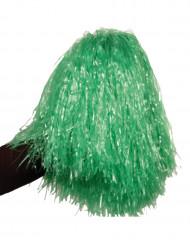 Pompón verde metálico