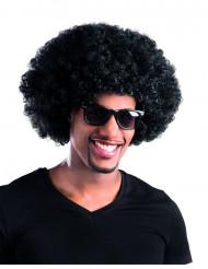 Peluca afro / payaso negro volumen adulto