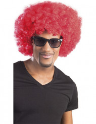Peluca afro /payaso roja volumen adulto