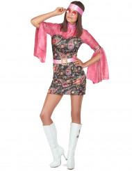 Disfraz hippie mujer
