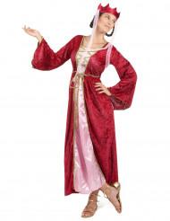 Disfraz medieval de reina para mujer