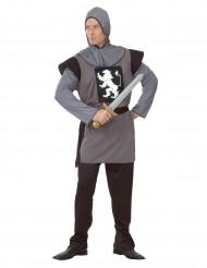 Disfraz de caballero medieval dragón blanco para hombre