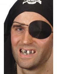 Maquillaje negro de dientes para adulto Halloween