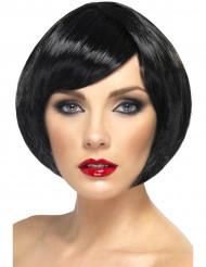 Peluca corta con glamour negro mujer