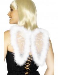 Alas blancas de ángel para adulto