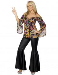 Disfraz de hippie Johana para mujer