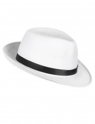 Sombrero blanco de gánster adulto