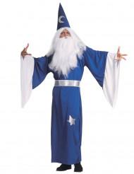 Disfraz azul de mago para hombre