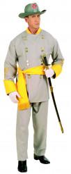 Disfraz de general sudista para hombre